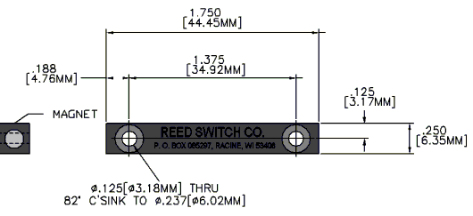 Series 2010 Reed Switch Actuator Reed Switch Developments Corp