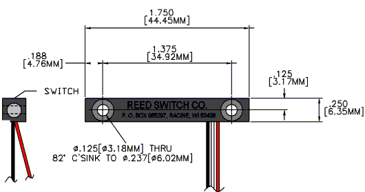 Series 2010 Reed Switch Sensor Reed Switch Developments Corp